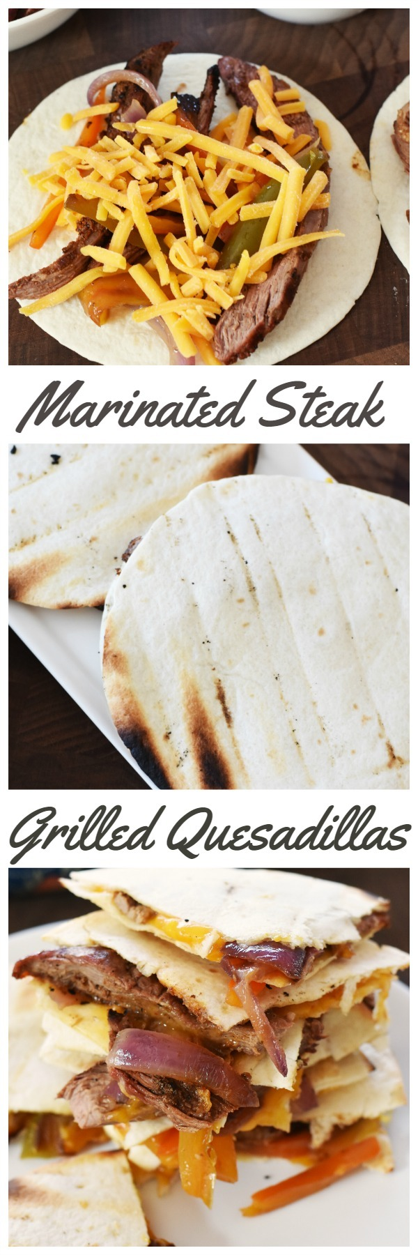 Marinated Steak Grilled Quesadillas