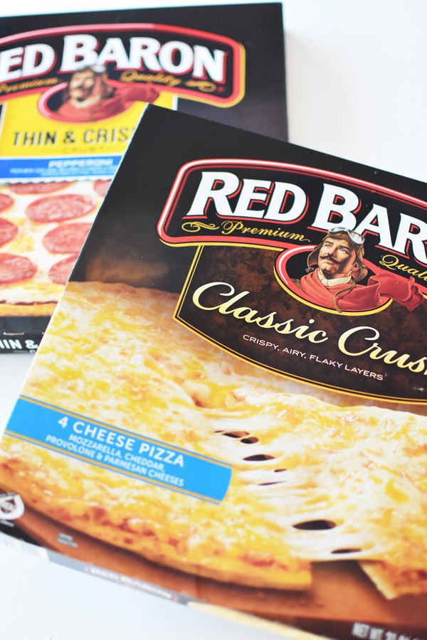 Red Baron Pizza boxes