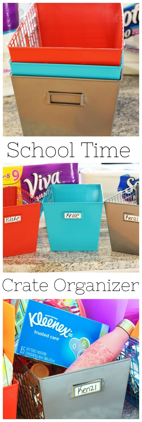 School Time Crate Organizer