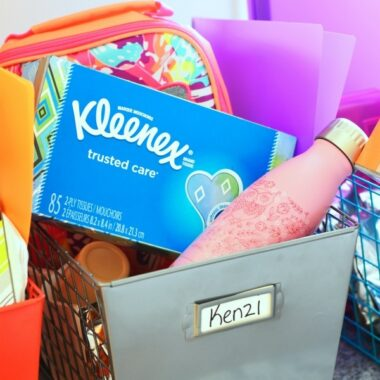 back to school organizer crate