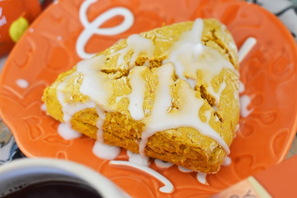 Pumpkin Scone on plate