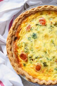 Easy Broccoli & Tomato Quiche