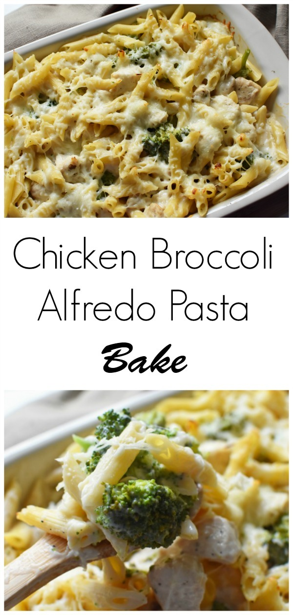 Chicken Broccoli Alfredo Pasta Bake