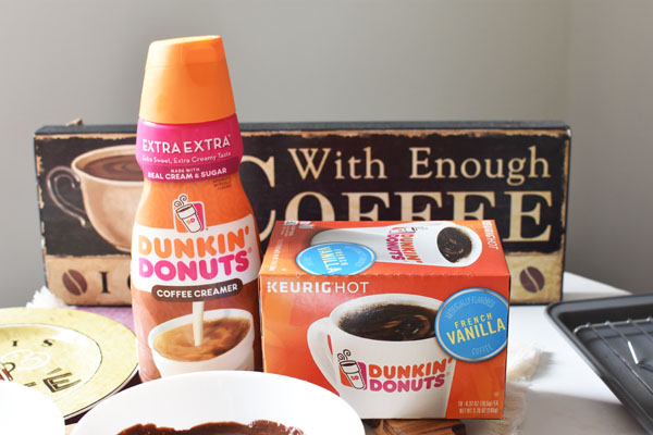 Dunkin Coffee Creamer and coffee
