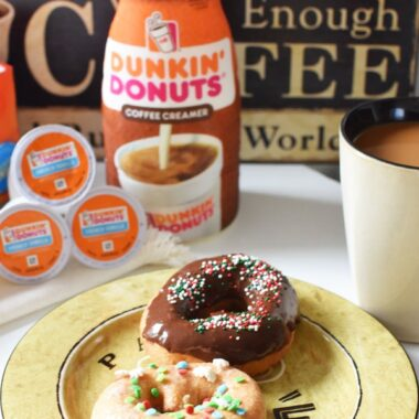 Holiday donuts and coffee