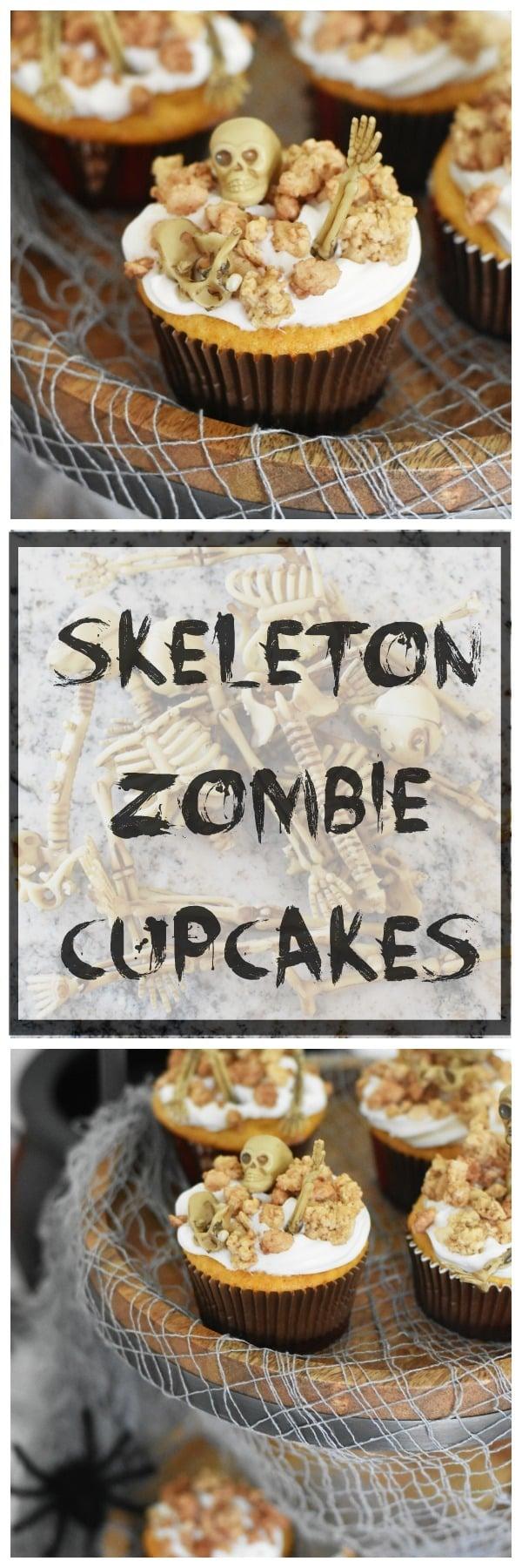 Skeleton Zombie Cupcakes