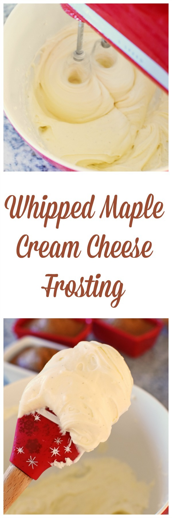 Whipped Maple Cream Cheese Frosting