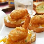 Deconstructed Coconut Shrimp Crostini