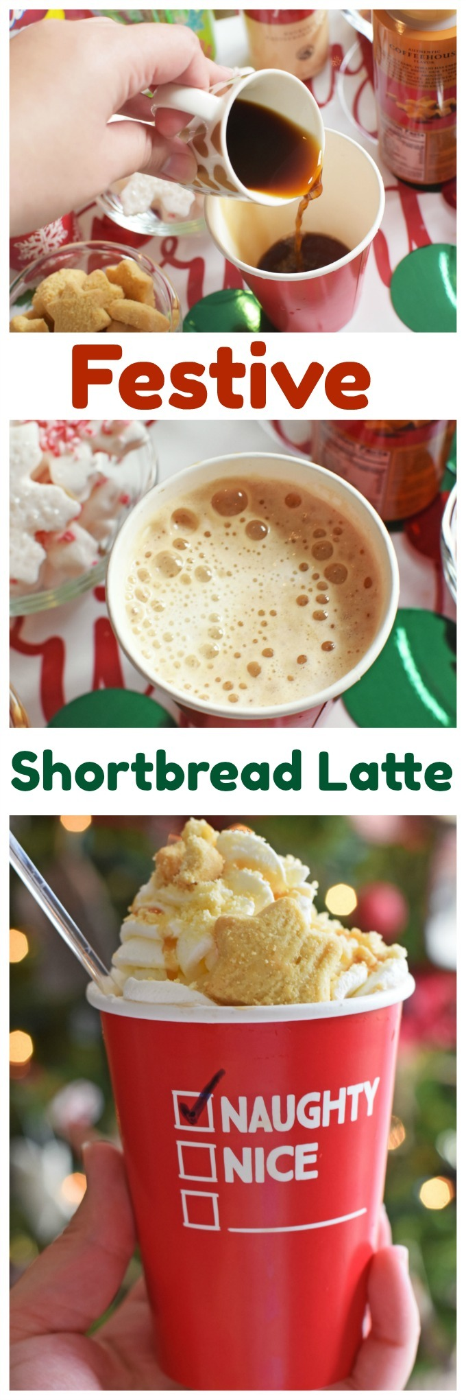 Festive Shortbread Latte that you can make at home