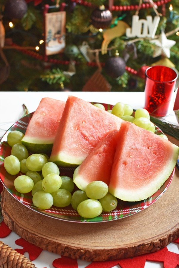 Grapes and Watermelon on a Platter1