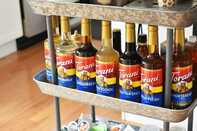 Torani Holiday Flavors on coffee cart
