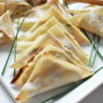 Tuna Rangoons on w white plate