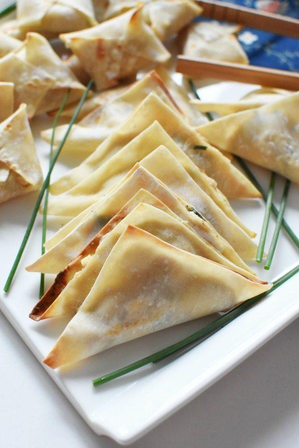 Tuna Rangoons on w white plate