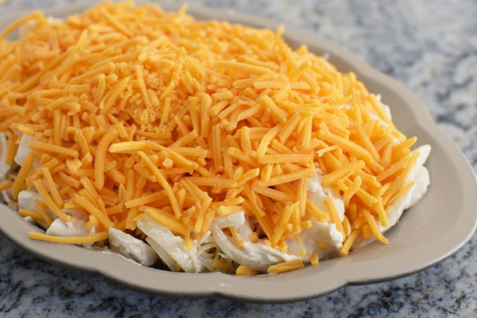 Cheese topped crab casserole1