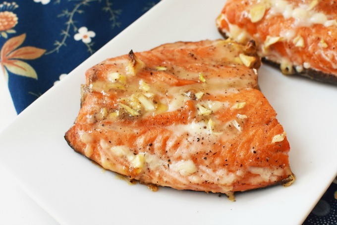 Garlic Baked Salmon Filet1