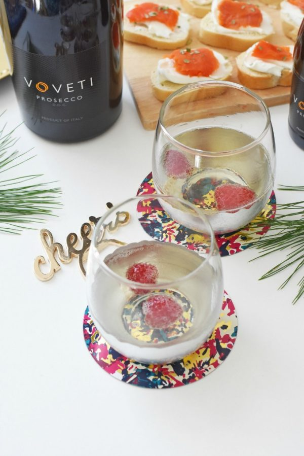 New Years Appetizer and wine1