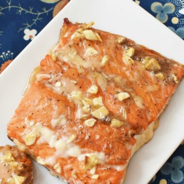 Salmon with honey and garlic1