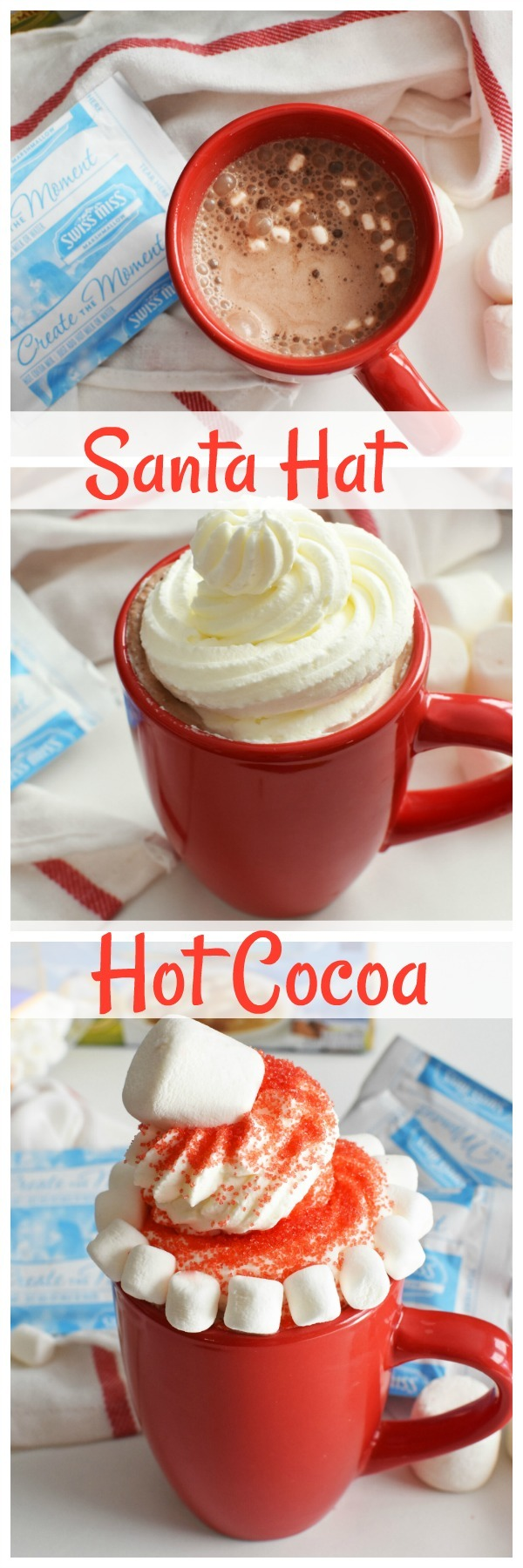 Santa Hat Hot Cocoa DIY Drink