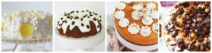 Cake desserts photography examples