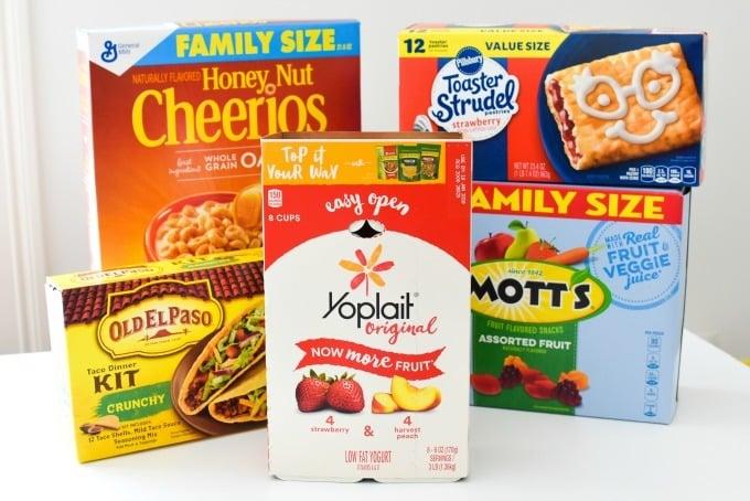 General Mills Box Tops Foods
