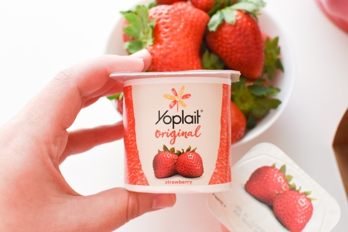 Yoplait Strawberry Yogurt Cup