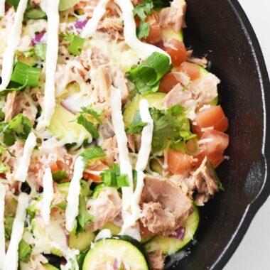 Zucchini nachos with Tuna