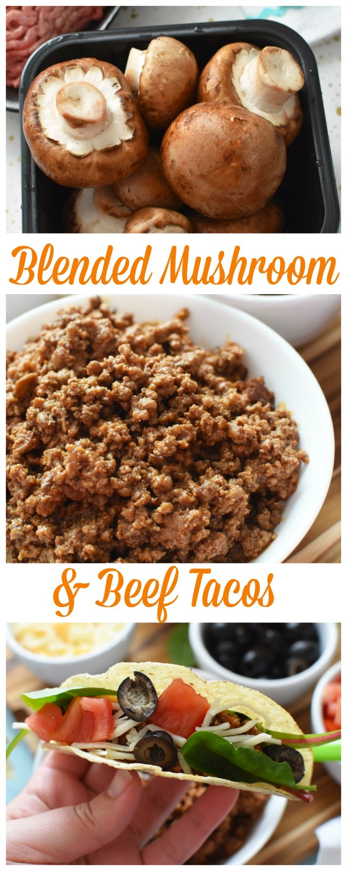 Blended Mushroom and Beef Tacos