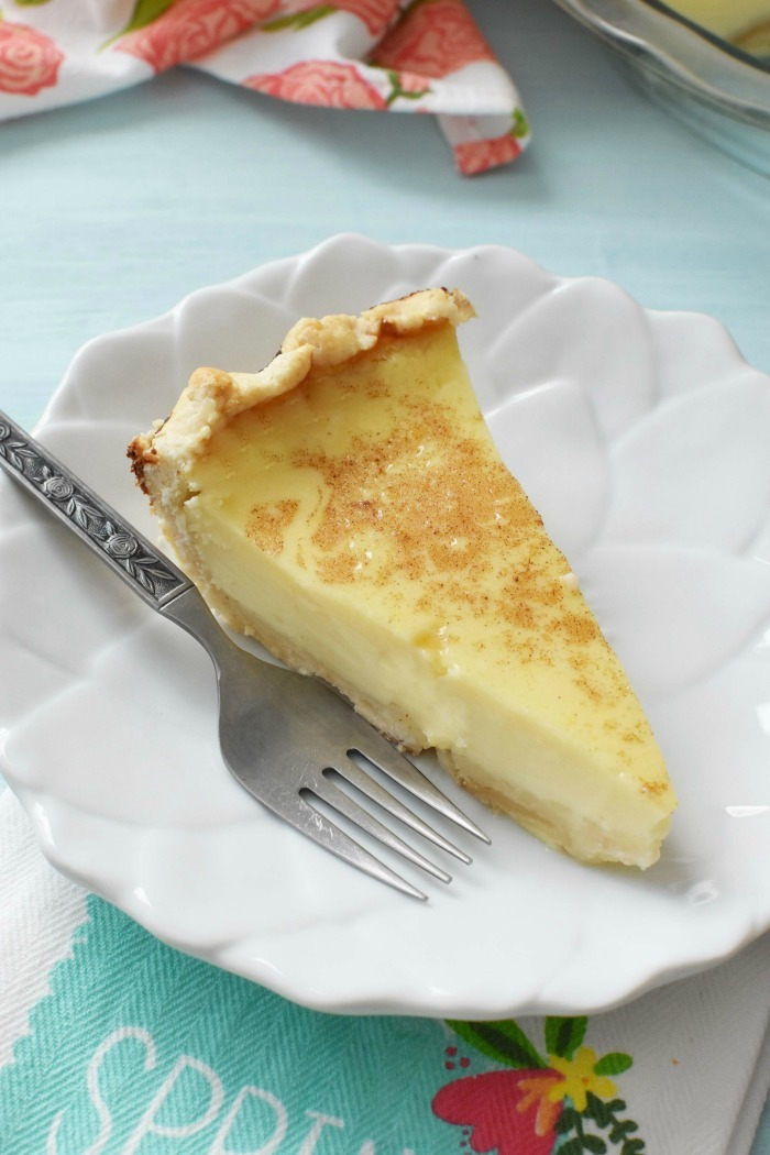 Grandmas Egg Custard Pie1