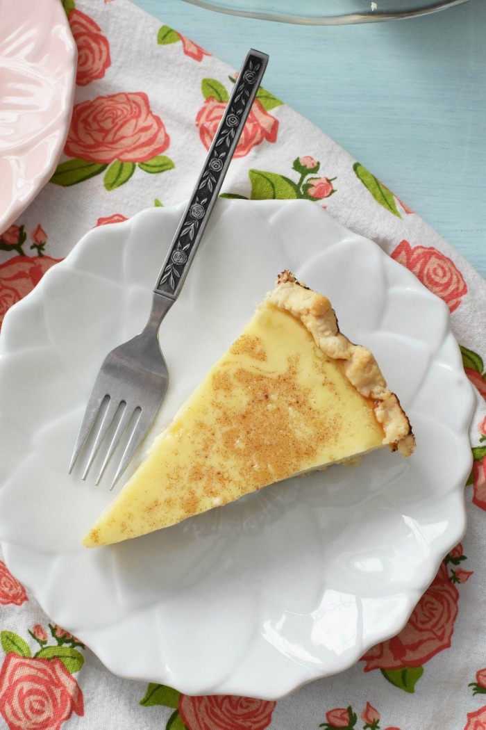 Slice of Egg Custard Pie