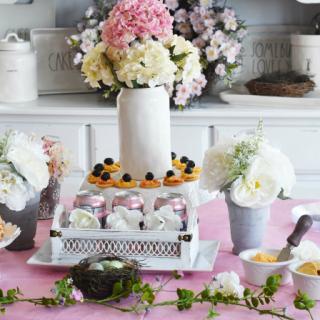 Spring Floral Appetizer Tablescape