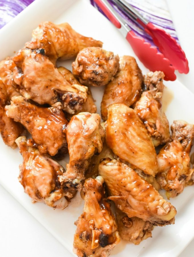 Baked Honey Garlic Wings with Ginger