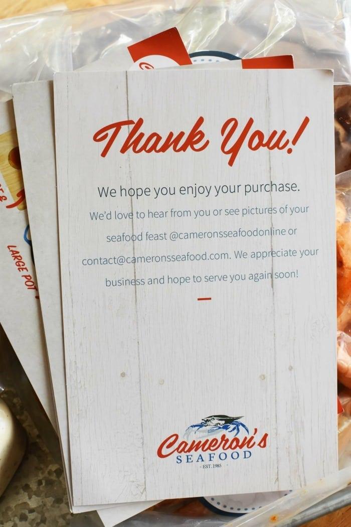 Camerons Seafood Sampler 1