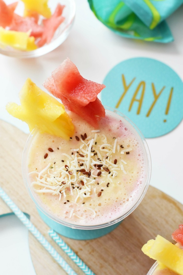 Layered Tropical Fruit Smoothie 1