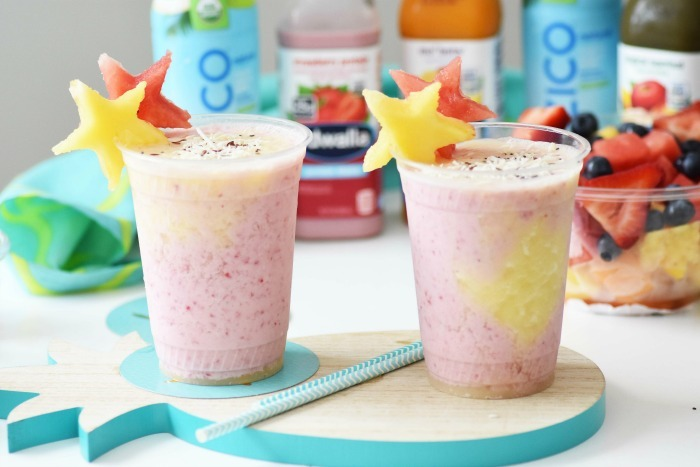 Layered Tropical Fruit Smoothies 1