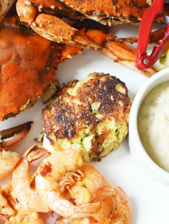 Maryland Crab Cakes and shellfish boil 1