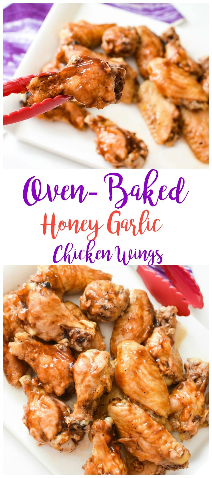 Oven Baked Honey Garlic and Ginger Chicken Wings