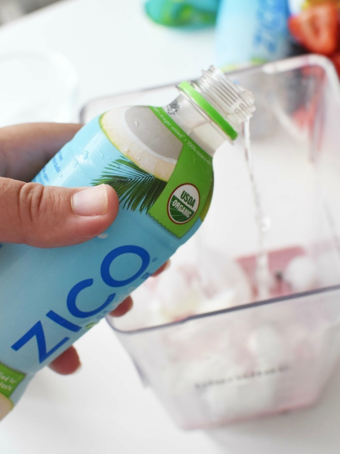 Zico Coconut water in smoothie 1