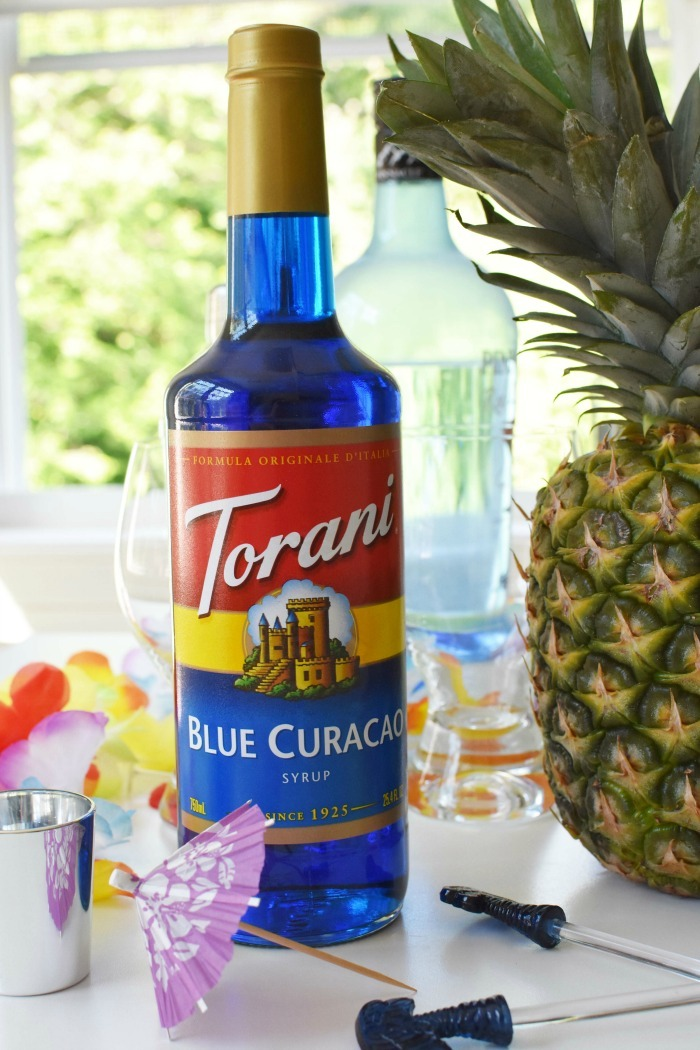Blue Curacao Torani Syrup for Blue Hawaiian 1