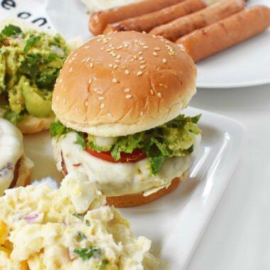 Jennie-O-Turkey Burger Grilled with Guacamole 1