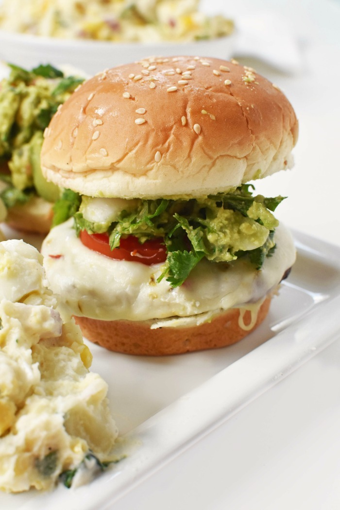 Southwestern Grilled Turkey Burger with Guacamole 1