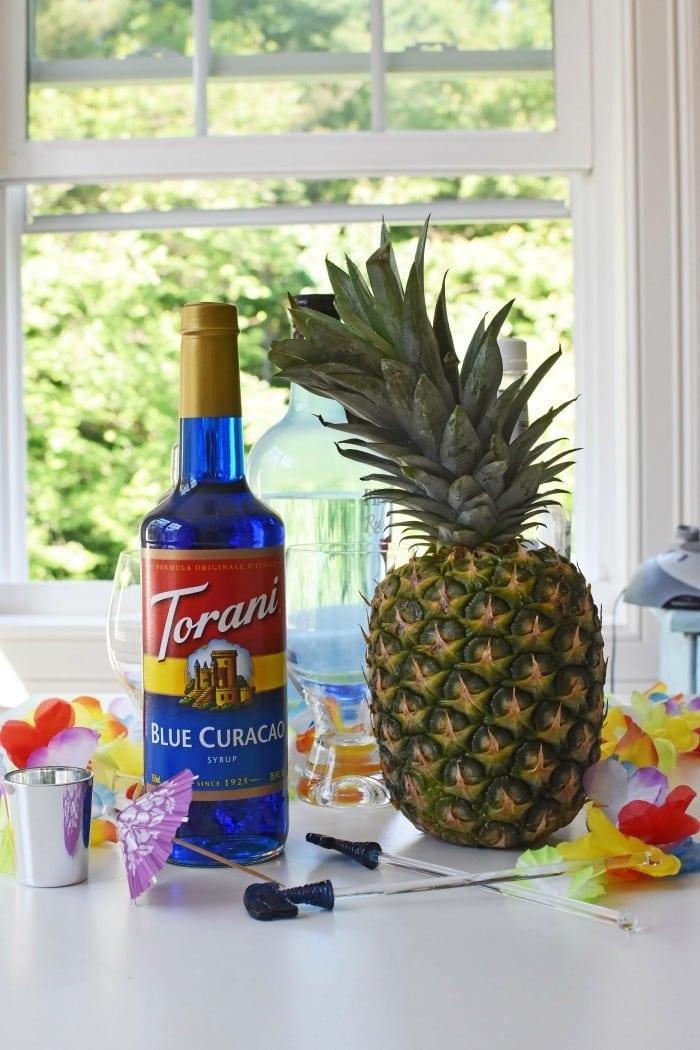 Torani Blue Curacao Syrup for Blue Hawaiian Drink 1