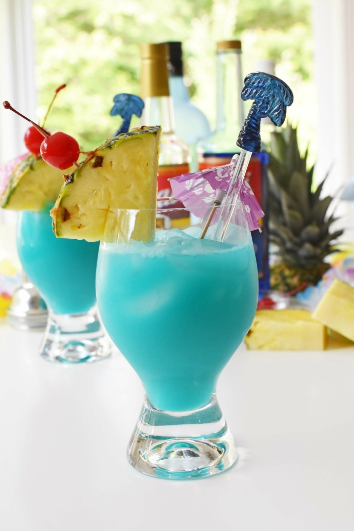 Blue Hawaii Mixed Cocktail Drink