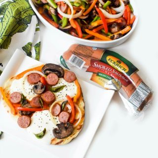 Eckrich Smoked Sausage Grilled Pizza 1