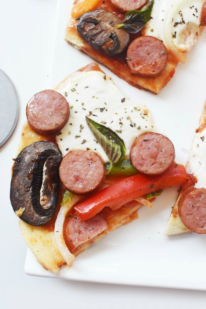 Sausage Flatbread pizza 1