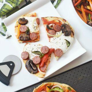 Sausage and Veggie Flatbread Pizza 1