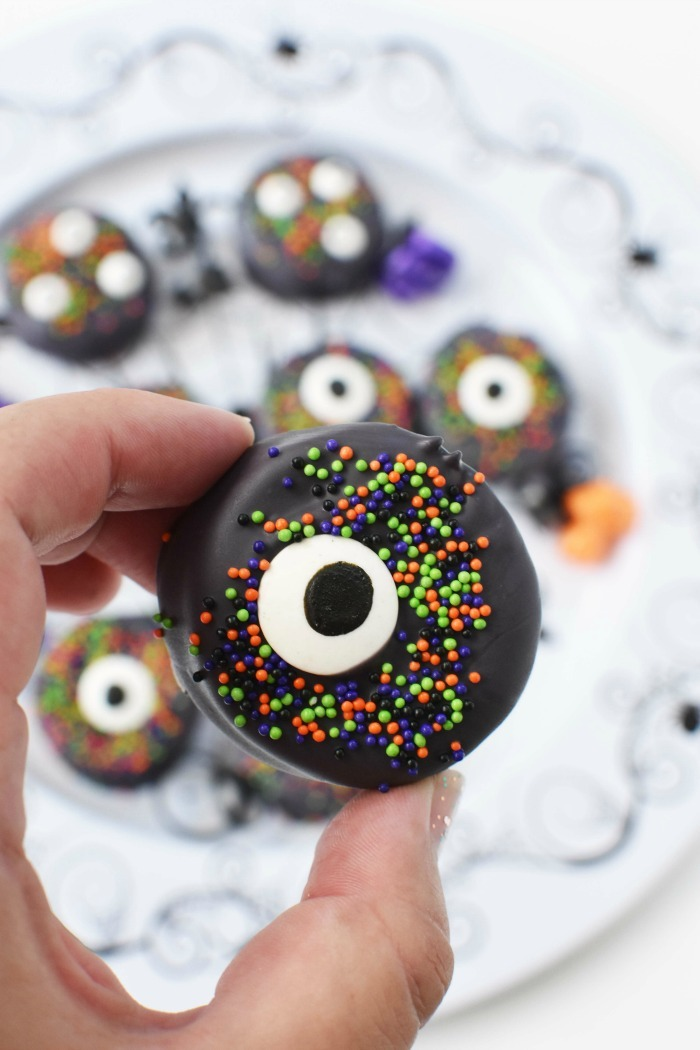 Candy Covered Halloween Oreo