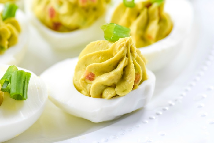 Creamy Guacamole Deviled Eggs