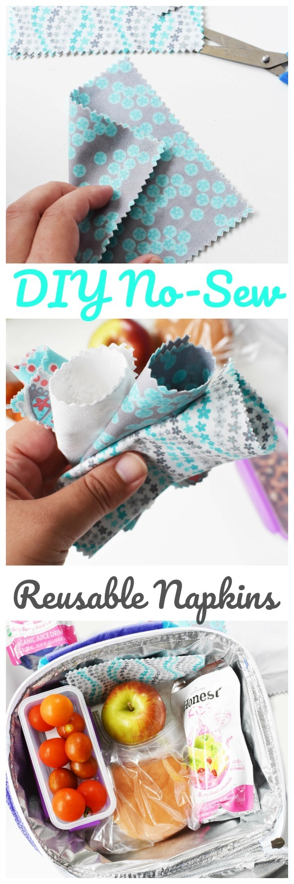 DIY No-Sew Reusable Napkins