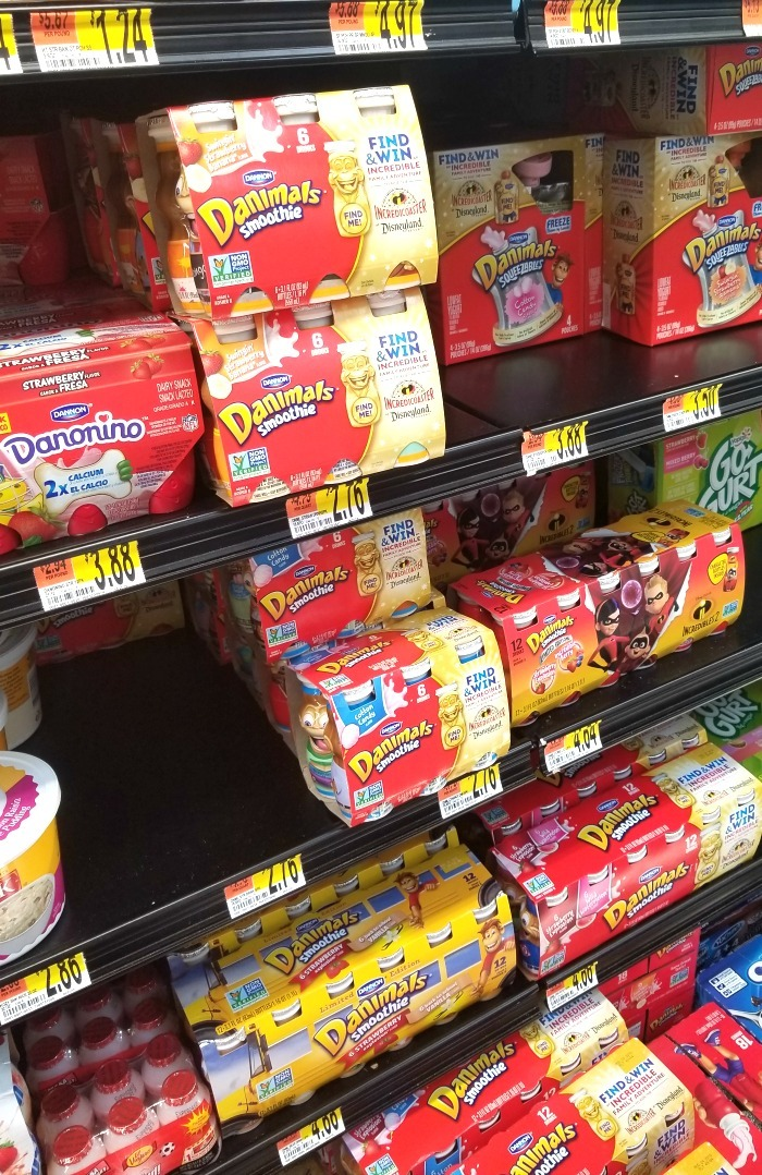 Danimals Yogurt at Walmart
