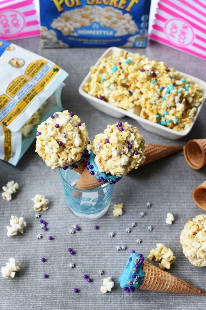 Dipped Ice Cream Cones Popcorn Balls 1